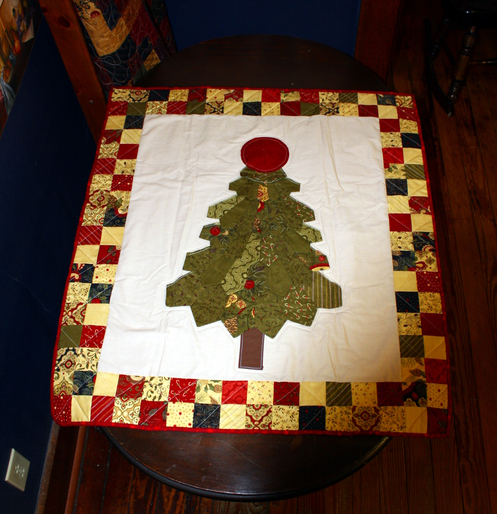 Christmas Tree Wall Hanging Stitch By Stitch Quilting