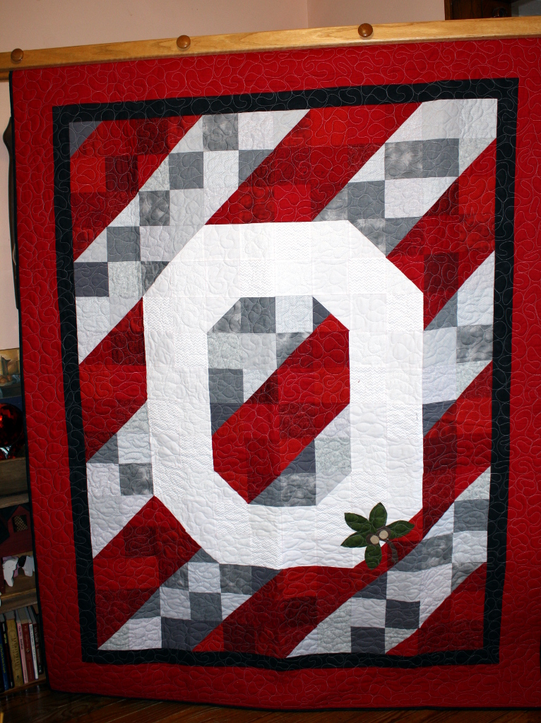 Buckeye Champions Large Lap Quilt Stitch By Stitch Quilting