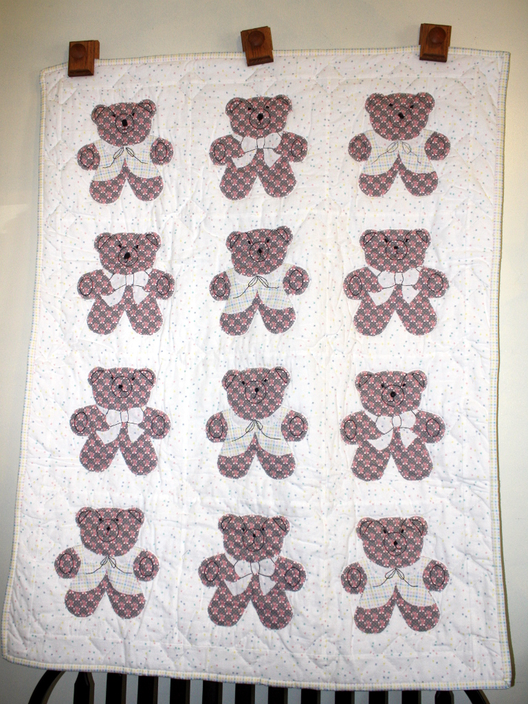 Flannel Bear Quilt Stitch By Stitch Quilting